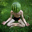 Watermelon meditation — Stock Photo #4766579