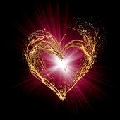抽象的なバレンタイン ハート — ストック写真