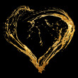 Abstract valentine's golden heart - Foto Stock