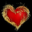 Abstract valentine';s golden heart - Foto de Stock