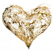 Abstract valentine's golden heart — Stockfoto