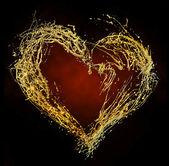 Abstract valentine's golden heart — Stock Photo