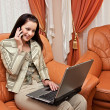 Woman with laptop — Stock Photo #4982028