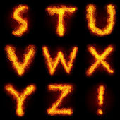 Fiery Font — Stock Photo