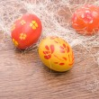 Stock Photo: Hand painted Easter eggs