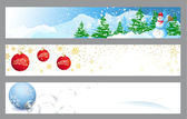 Christmas horizontal banners for web — Stock Vector