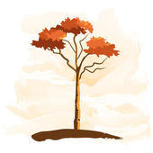 Tree in autumn colors — Stock Vector