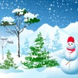 Winter Christmas landscape — Stock Vector #4172042