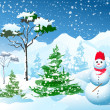 Royalty-Free Stock Vector Image: Winter Christmas landscape