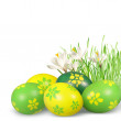 Easter decoration with Easter eggs. — Stock Photo