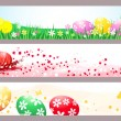 Easter banners for the web — Stock Vector