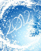 2012 Happy New Year greeting card — Stock Vector