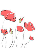 Picture of red flowers — Stock Vector