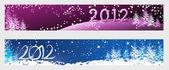 Nytt år 2012 horisontella banners — Stockfoto