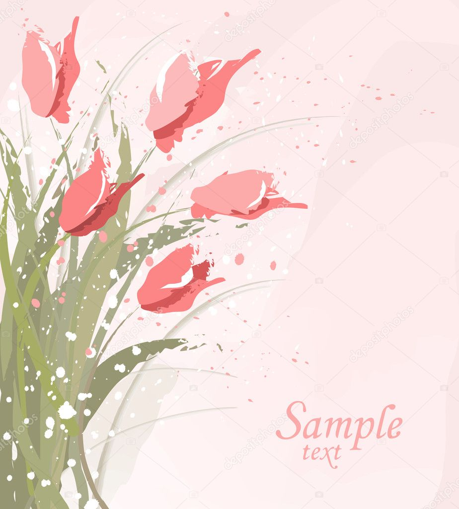 Eps10 vector flower background — Stock Vector #5356969