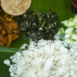 Indian banana leaf meal — Stock Photo