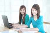 Asian college students — Stock Photo