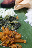 Banana leaf meal — Stock Photo
