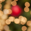 Defocused christmas decoration light - Stock Photo