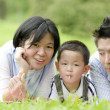 Royalty-Free Stock Photo: Outdoor asian family portrait with