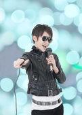 Asian rock star — Stock Photo