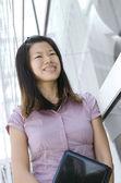 Young asian outdoor business executive — Stock Photo