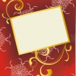 Royalty-Free Stock Photo: Red and gold ornate background