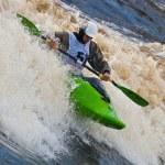 Freestyle on whitewater — Stock Photo