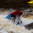 Stock Photo: Whitewater freestyle