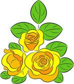 Yellow Roses — Stock Vector