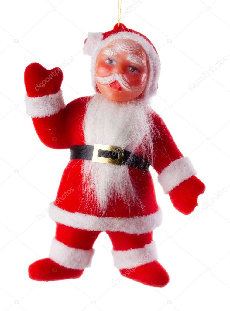Santa claus xmas decoration isolated on white background — Stock Photo #3952833