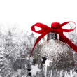 Foto Stock: Baubles and Holly