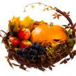 Stock Photo: Autumn's basket