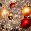 Stock Photo: Baubles and Holly