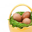 Eggs in Easter Basket — Stock Photo #5230415