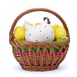 Eggs in Easter Basket — Stock Photo #5230435