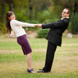 Young couple dancing outdoor — Stock Photo #3998951