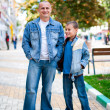 Father and son outdoor — Stock Photo #4049236