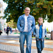 Father and son outdoor — Stockfoto