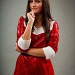Beautiful Santa young woman — Stock Photo #4068274
