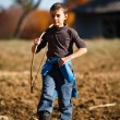 Stock Photo: Boy playing outdoor