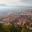 Rasnov town in Romania — Stock Photo