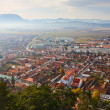 Rasnov town in Romania — Stockfoto