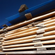Stacks of planks — Stock Photo