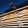 Stacks of planks — Stock Photo #4208257