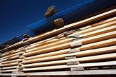 Stacks of planks — Stock Photo