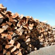 Stock Photo: Stack of firewood