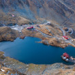 Aerial view of Balea Lake, Romania — Stock Photo