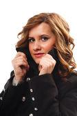 Kış ceket, closeup kadın — Stok fotoğraf