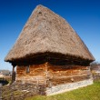 Stock Photo: Old countryside barn in Romania - see the whole series